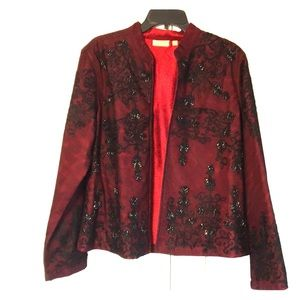 NWT sequence ladies jacket black/ red color LG